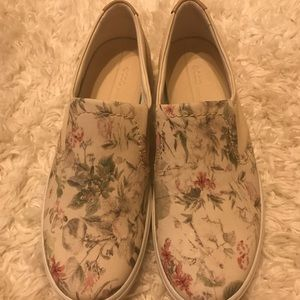 ECCO brand slip on shoes in a floral print. NWOT